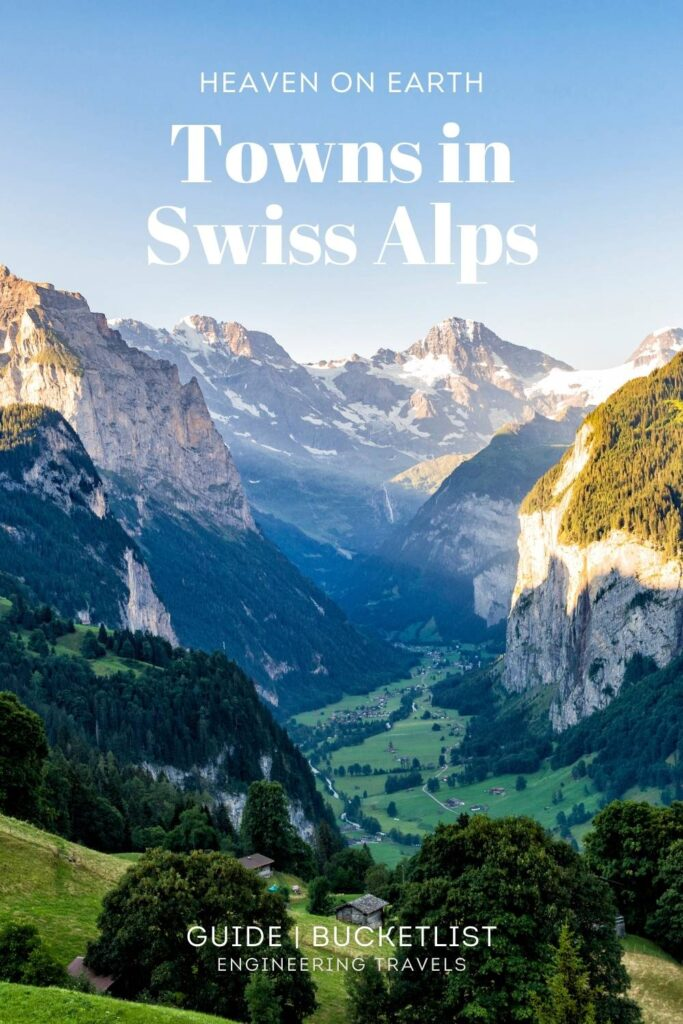 Towns in the Swiss Alps