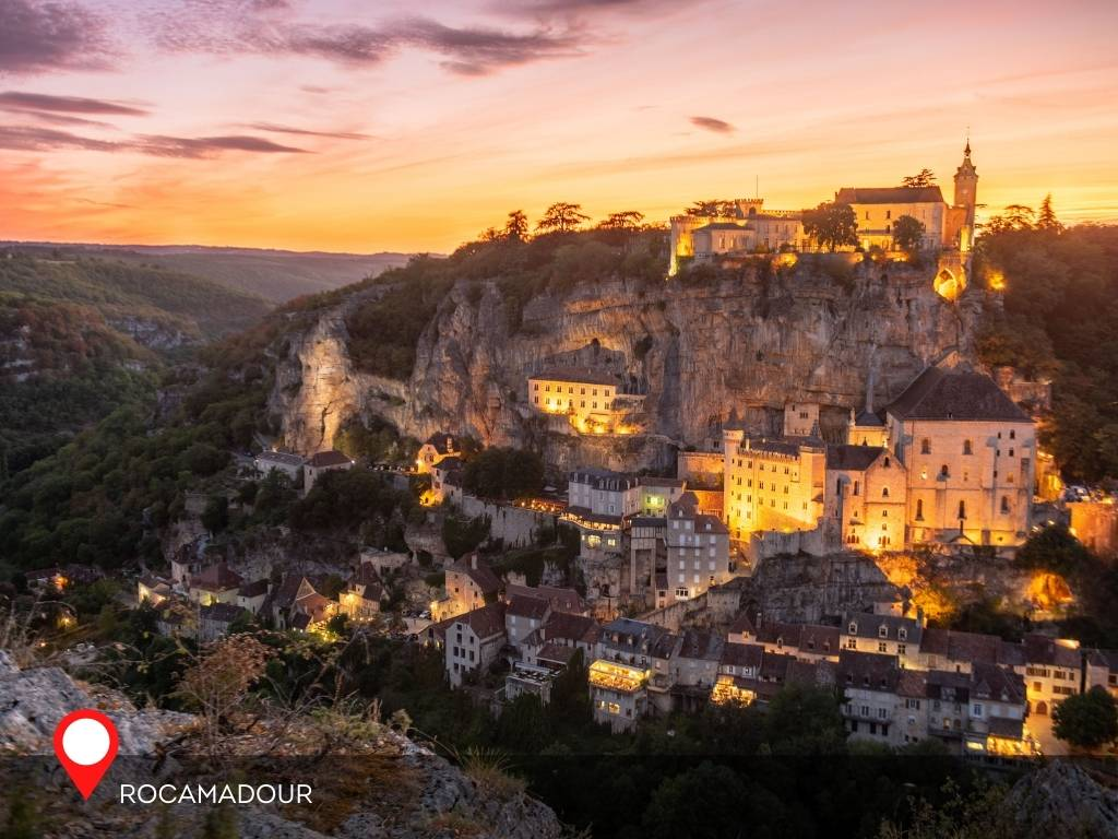Sunset at Rocamadour, France