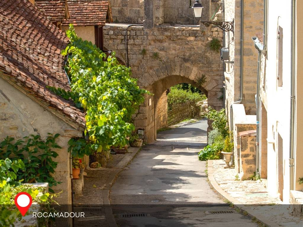 A gate in Rocamadour, France