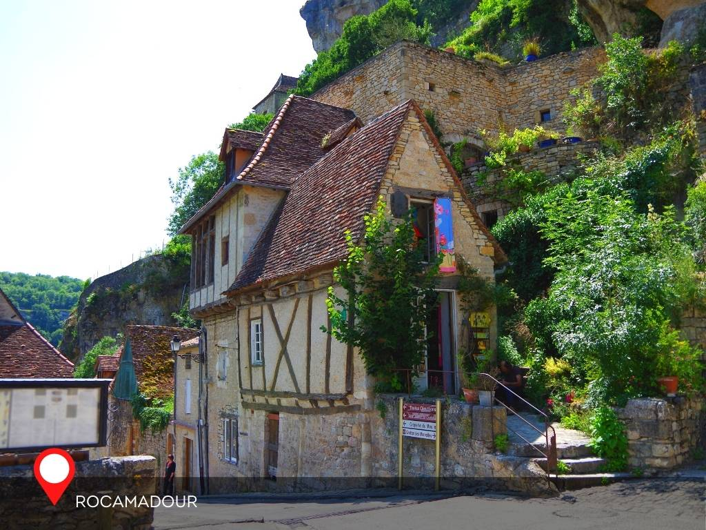 Houses in Rocamadour, France
